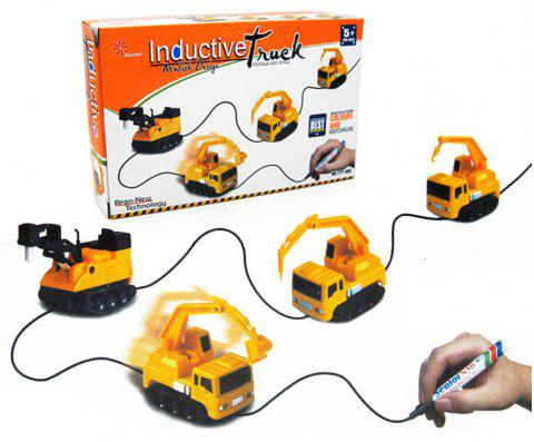 Magic Inductive Truck Follow Drawn Line Car Toy for Kids Children - YELLOW