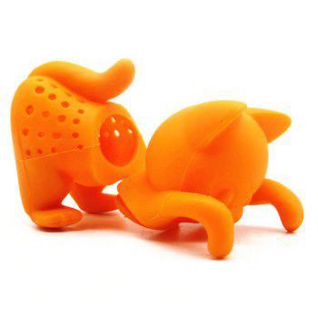 Atongm Cute Cartoon Creative Silica Gel Tea Brewing Device - ORANGE