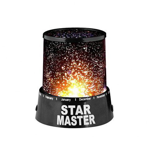 BRELONG Colorful Starry LED  Light Sky Star Lamp for Christmas - BLACK