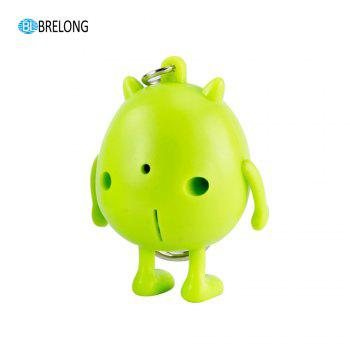 Brelong Noise-making Cartoon Keychain with LED Light -  GREEN