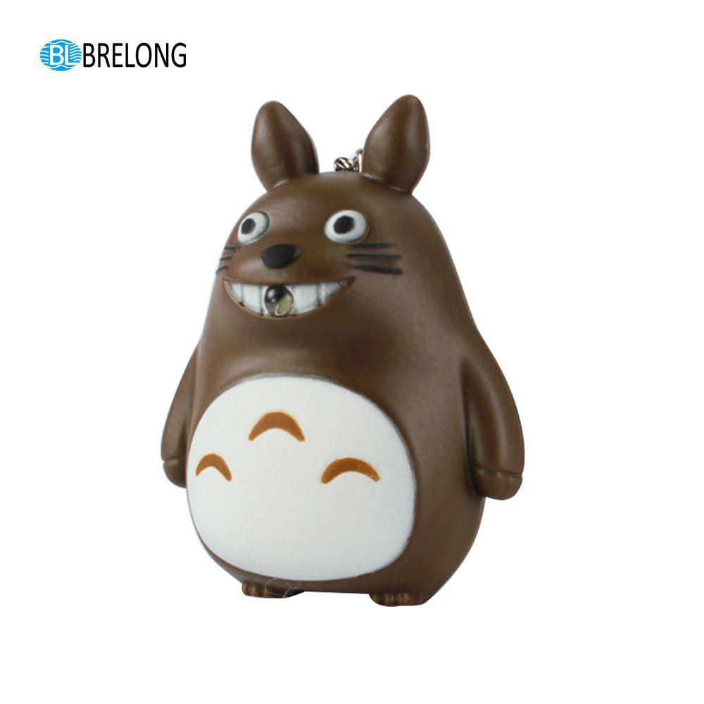 Brelong Noise-making  Cartoon Keychain with  LED Light - BROWN