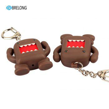 Brelong Noise- making  Cartoon  Keychain with LED Light Pendant - BROWN