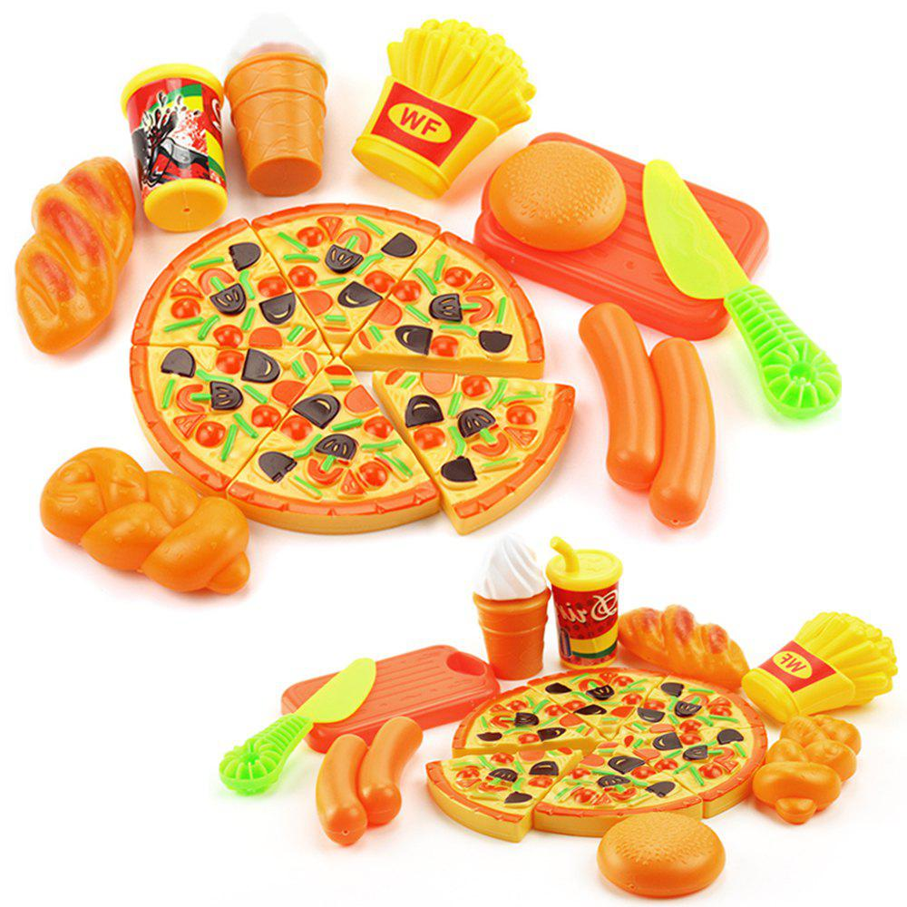 15PCS Plastic Food Pizza Kitchen Pretend Play Toy for Kids pizza balance game pile up balancing desktop toy pretend play food small family plastic building blocks toys for children