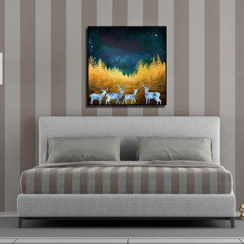 Abstract Canvas Print Frameless Home Wallart Decoration - COLORFUL 15 X 15 INCH (40CM X 40CM)