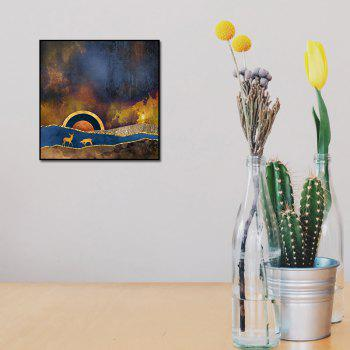 Abstract Unframed Canvas Print for Room Wall Decoration - COLORFUL 19 X 19 INCH (50CM X 50CM)