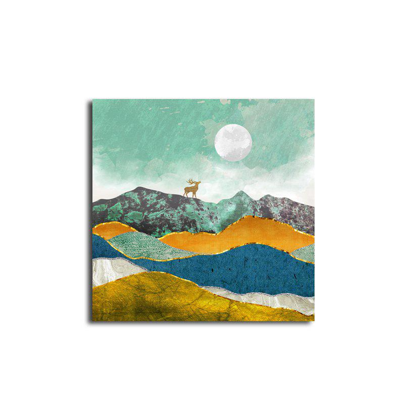 Abstract Unframed Art Canvas Print for Home Wall Decoration - COLORFUL 19 X 19 INCH (50CM X 50CM)