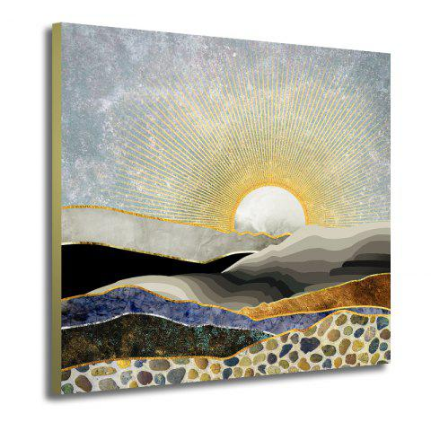 Abstract Canvas Art Print Unframed Home Wall Decoration - COLORFUL 19 X 19 INCH (50CM X 50CM)