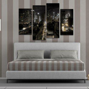 Creative Frameless Canvas Prints for Home Decoration 4pcs - COLORFUL