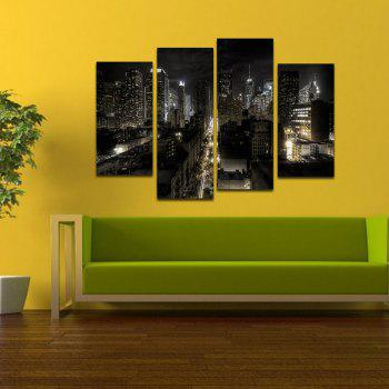 2018 Creative Frameless Canvas Prints for Home Decoration 4pcs ...