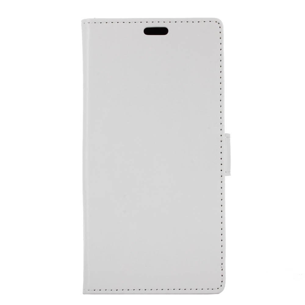 Wkae Crystal Grain Texure Faux Leather Wallet Case for Samsung Galaxy A5 2018 - WHITE