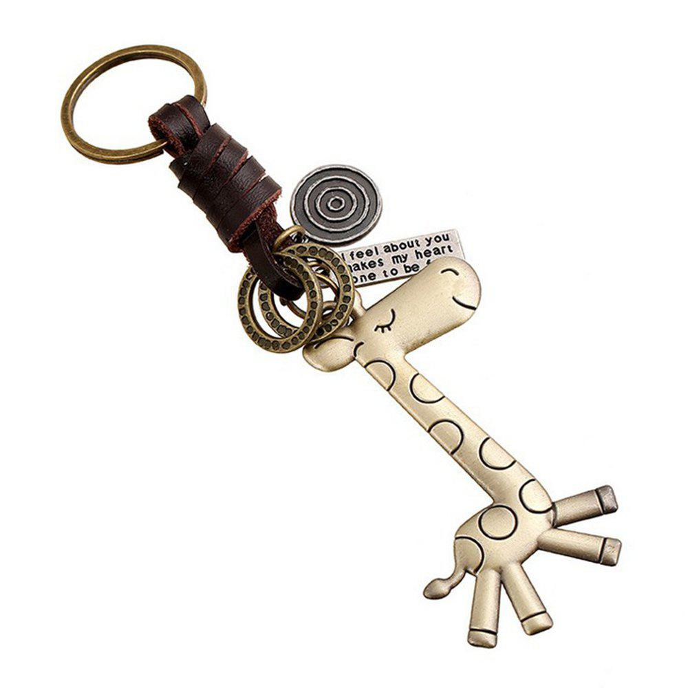 Men's Alloy PU Animal Pattern Key Ring Accessory - BRONZE