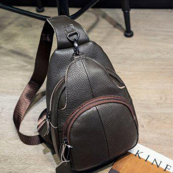 New Outdoor Couples Male Ladies' breast - korean Version of The Hip - leather Casual Shoulder Bag - BLACK