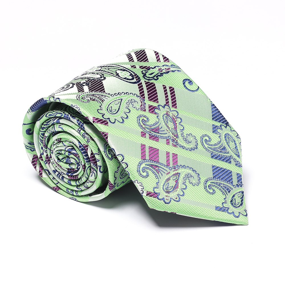 Fashion Men's Business Necktie Cashews Pattern Simple Style Casual Stylish Tie - GREEN