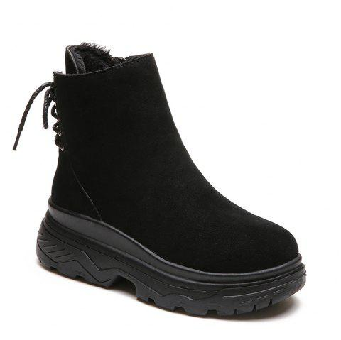 2019 Women Winter Fashion Ankle Snow Boots Waterproof Block Thick