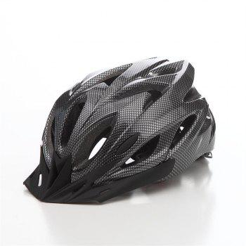 T-A016 Bicycle Helmet Bike Cycling Adult Adjustable Unisex Safety Equipment with Visor - CARBON FIBER CARBON FIBER