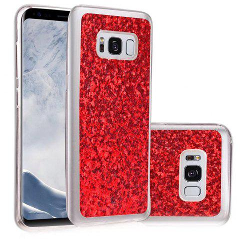 Soft Fashion Bling Shining Powder Sequins Case for Samsung Galaxy S8 - RED