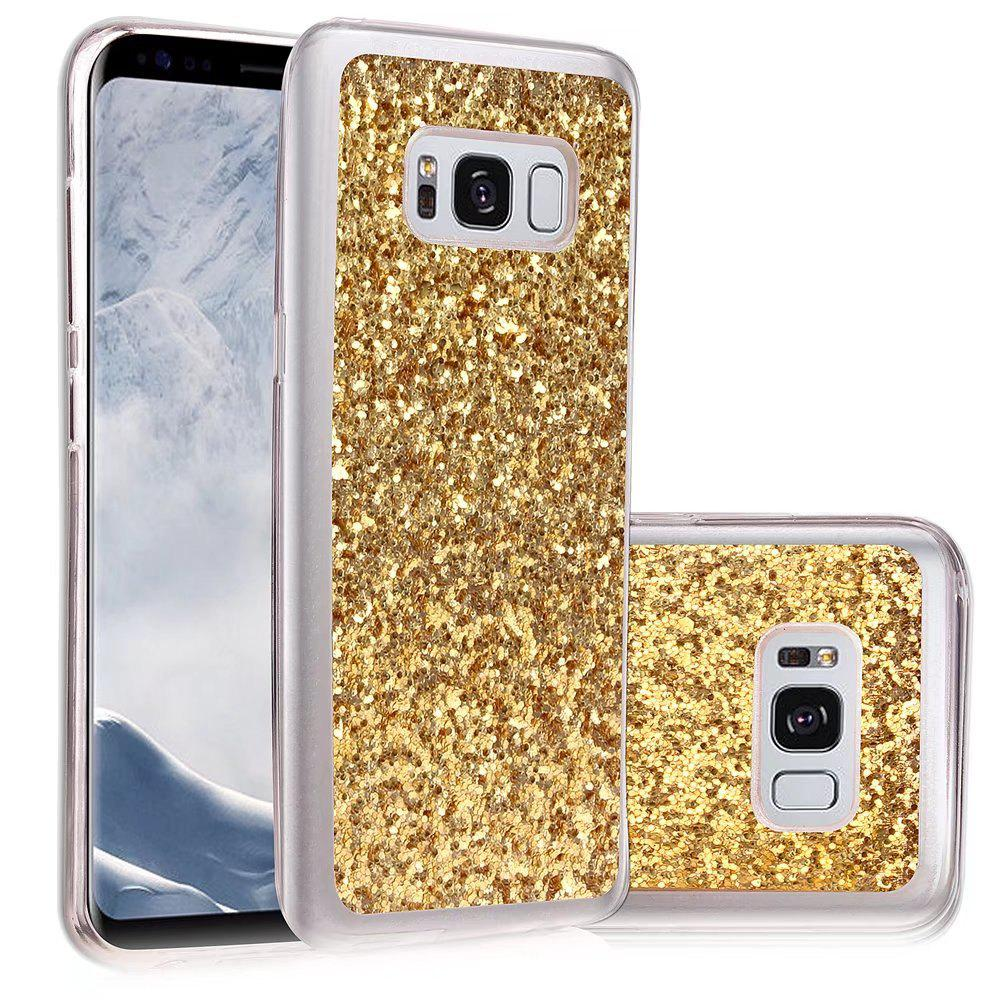 Soft Fashion Bling Shining Powder Sequins Case for Samsung Galaxy S8 - GOLDEN