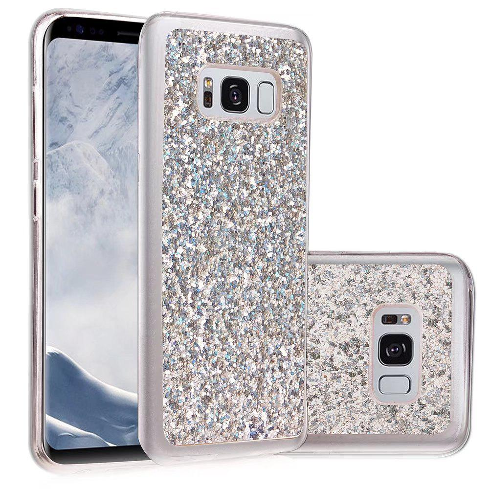 Soft Fashion Bling Shining Powder Sequins Case for Samsung Galaxy S8 Plus - SILVER