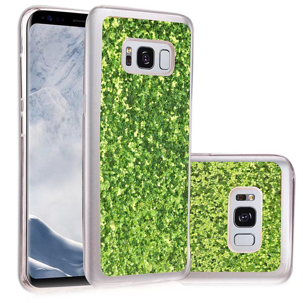 Soft Fashion Bling Shining Powder Sequins Case for Samsung Galaxy S8 Plus - GREEN