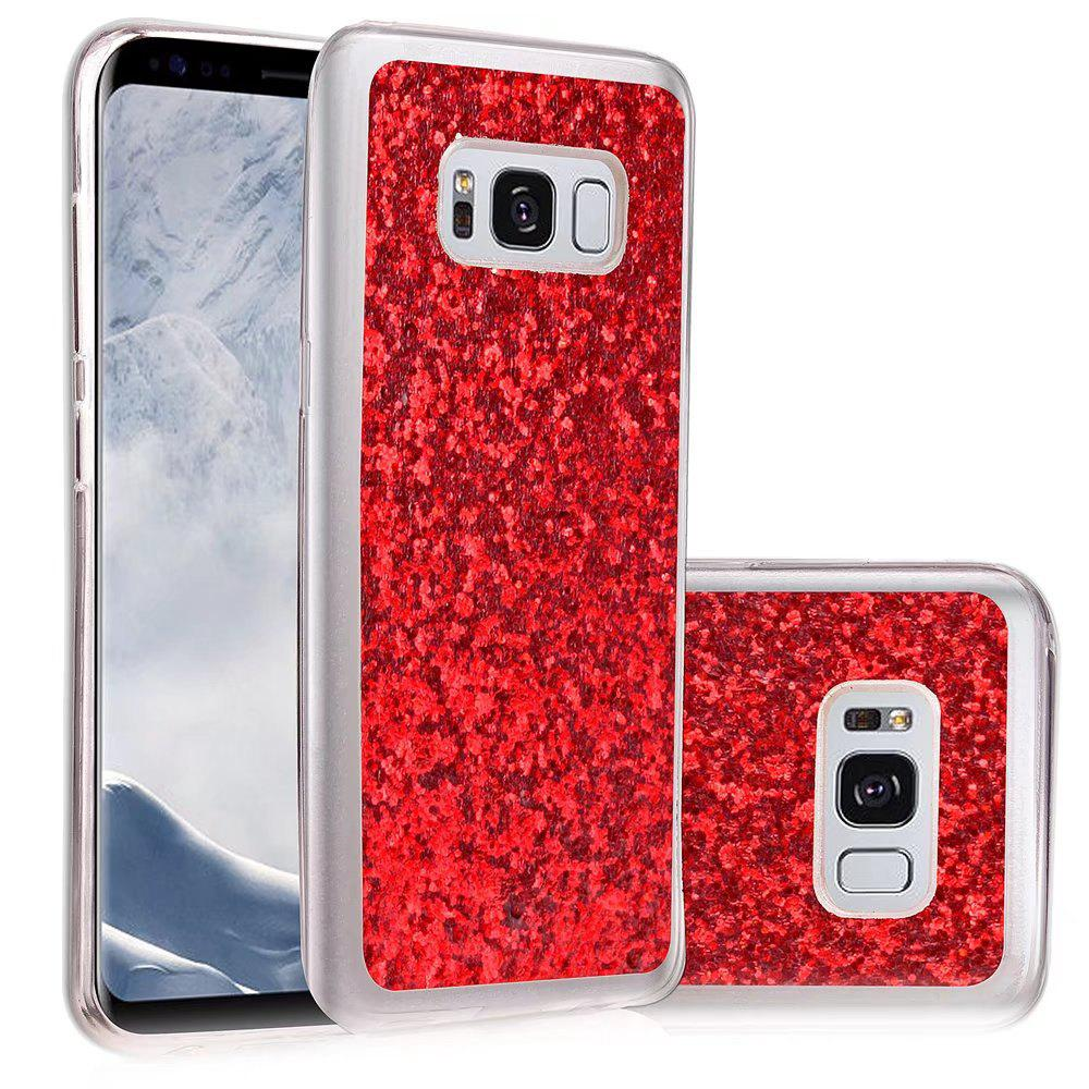 Soft Fashion Bling Shining Powder Sequins Case for Samsung Galaxy S8 Plus - RED