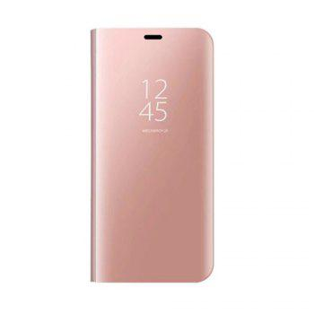 With Stand Plating Mirror Flip Auto Sleep Wake Up Full Body Solid Color Hard PC Case Cover for Galaxy J5 (2017) / J5 Pro - ROSE GOLD