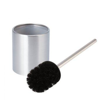 Stainless Steel  Toilet Bowl Brush Bathroom Cleaning Tool Holder With Base - SILVER