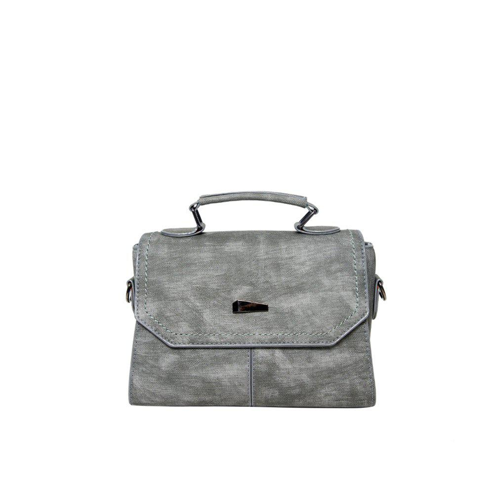 New Fashion Trend Small Party Bag Retro Shoulder Messenger Handbag - GRAY