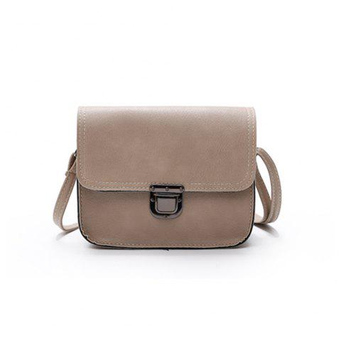 New Shoulder Messenger Bag Tide Simple Fashion Small Buckle Package - KHAKI