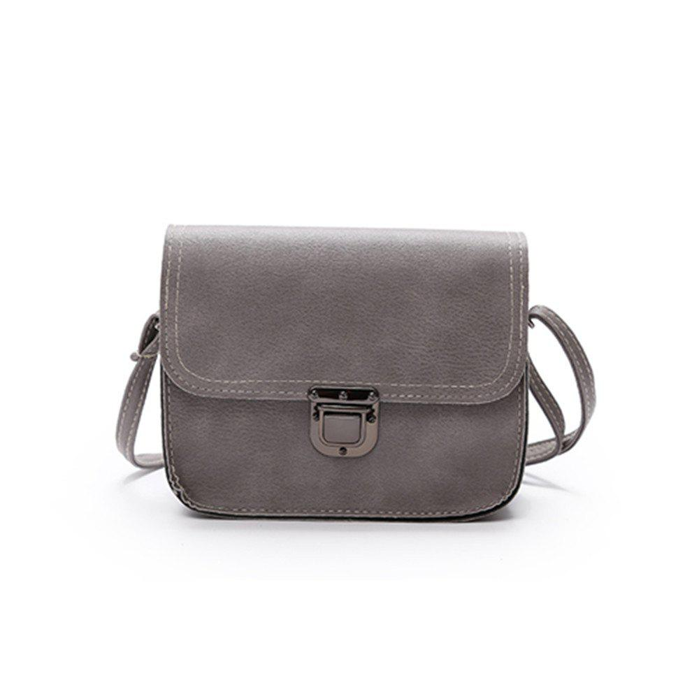 New Shoulder Messenger Bag Tide Simple Fashion Small Buckle Package - GRAY