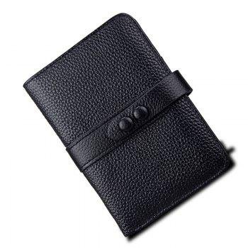 Women Wallets Genuine Leather Clutch Cowhide Fashion Female Purse -  BLACK