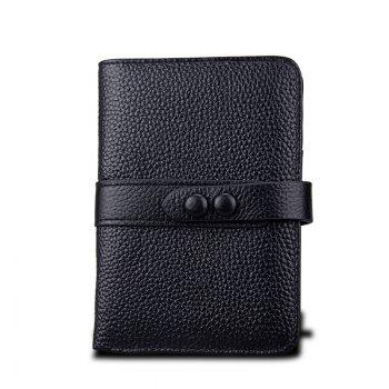 Women Wallets Genuine Leather Clutch Cowhide Fashion Female Purse - BLACK BLACK