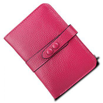 Women Wallets Genuine Leather Clutch Cowhide Fashion Female Purse - RED