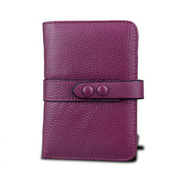 Women Wallets Genuine Leather Clutch Cowhide Fashion Female Purse - PURPLE PURPLE