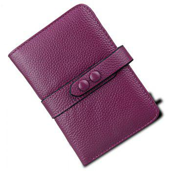 Women Wallets Genuine Leather Clutch Cowhide Fashion Female Purse -  PURPLE