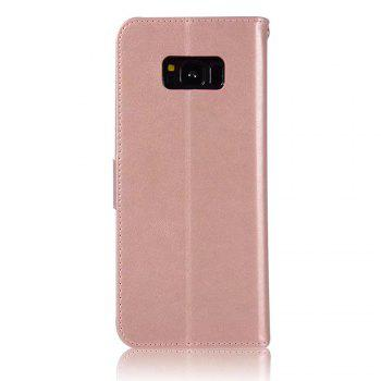 Owl Embossed Pattern PU Leather Wallet Case for Samsung Galaxy S8 - ROSE GOLD