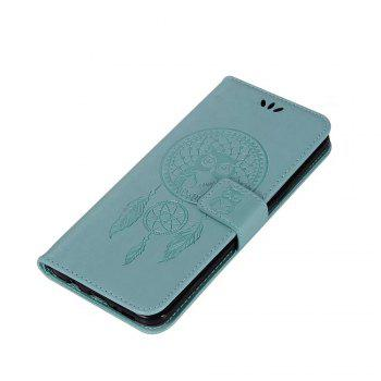 Owl Embossed Pattern PU Leather Wallet Case for Samsung Galaxy S8 - GREEN