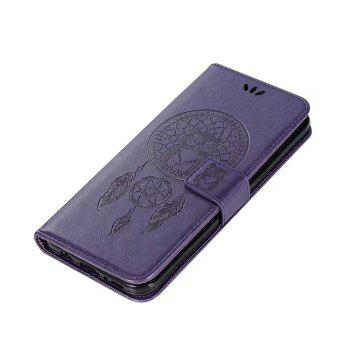 Owl Embossed Pattern PU Leather Wallet Case for Samsung Galaxy S8 - PURPLE