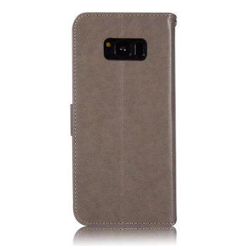 Owl Embossed Pattern PU Leather Wallet Case for Samsung Galaxy S8 Plus - GRAY