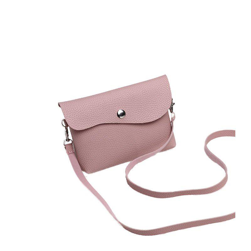 Mesdames Casual Lychee Pattern Crossbody - Rose