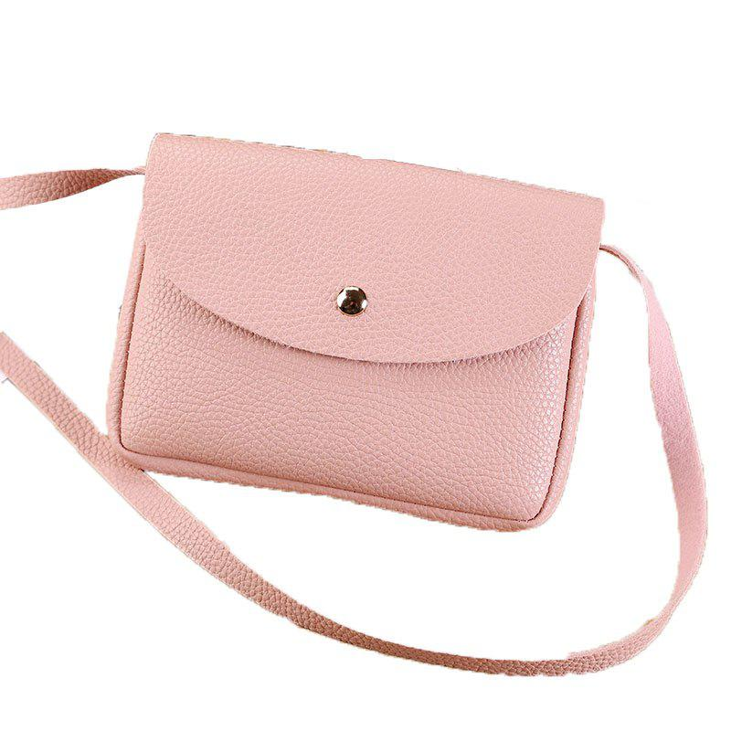 Les femmes occasionnels Lycra Pattern Mini Crossbody Bag - Rose
