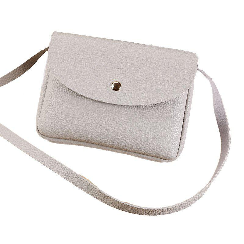 Les femmes occasionnels Lycra Pattern Mini Crossbody Bag - gris