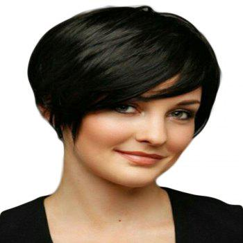 Modern Fairy Human Hair Lace Front Wig Short Style