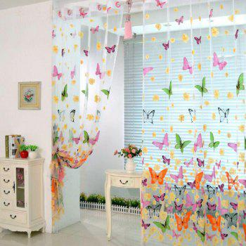 Rideau Transparent Impression Papillon - multicolorcolore FLAT FRONT