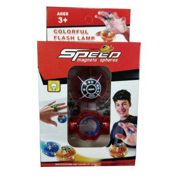 Magic Speed Magneto Spheres Flashing Ball Spinner Toys Stress Reducer - RED RED