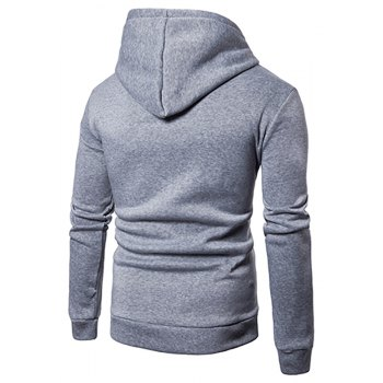 Men'S New Cartoon Character Printing Hooded Casual Hoodie - LIGHT GRAY M
