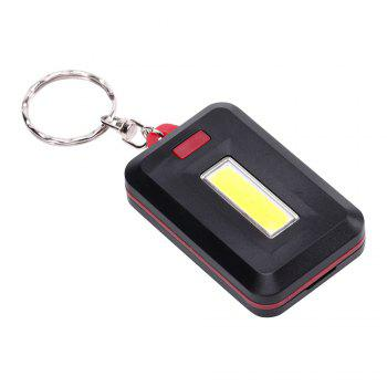 U'King ZQ-X1300  1000LM 3 Mode 8 LED COB Flashlight Lamp with Key Ring - RED RED