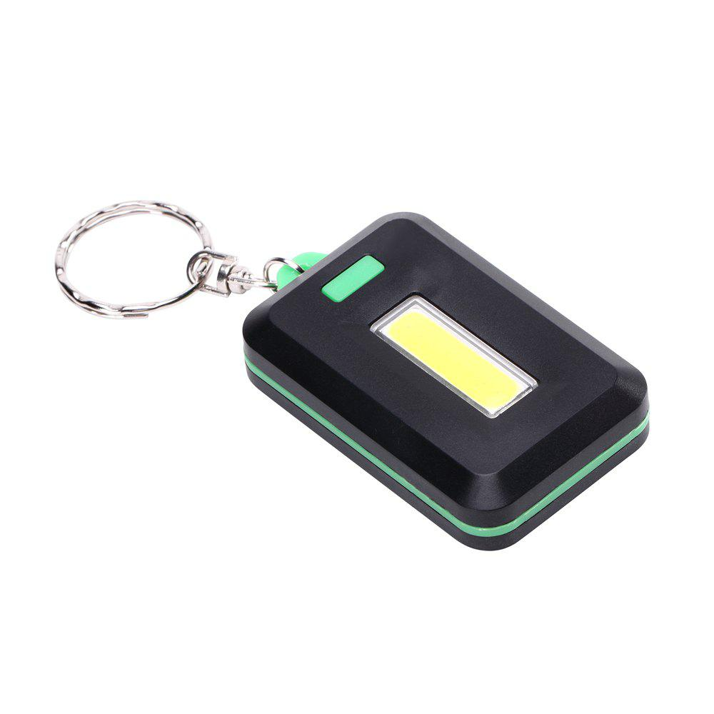U'King ZQ-X1300  1000LM 3 Mode 8 LED COB Flashlight Lamp with Key Ring - GREEN
