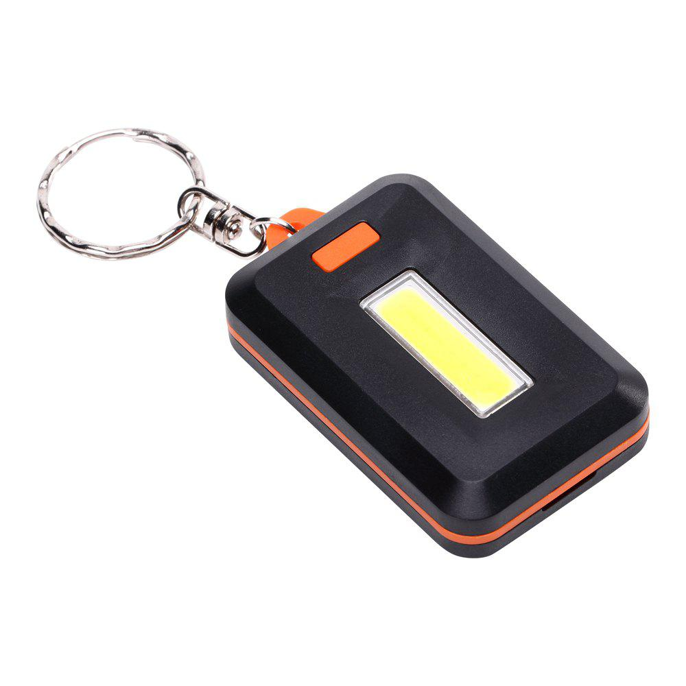 U'King ZQ-X1300 1000LM 3 Mode 8 LED COB Lampe de Poche avec Porte-clés - Orange