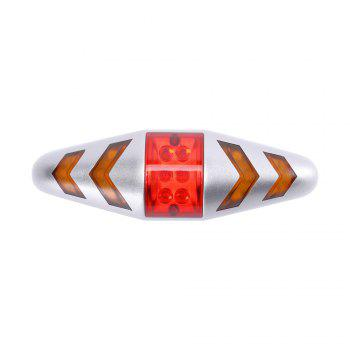 U'King ZQ-C1026 100LM Left Right Turn Indication Red Warning Rear Bike Lamp Tail Light - SILVER SILVER