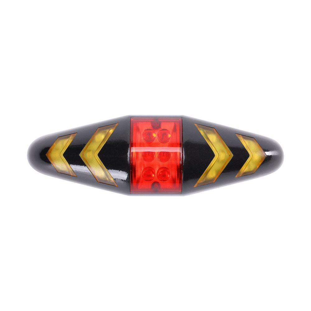U'King ZQ-C1026 100LM Left Right Turn Indication Red Warning Rear Bike Lamp Tail Light - BLACK